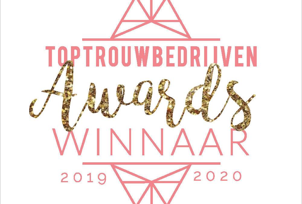 3e jaar op rij winnaar Top Trouwbedrijven! | maart 2020